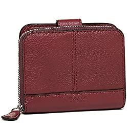 Coach Leather Medium Zip Around Wallet 51766 Crimson