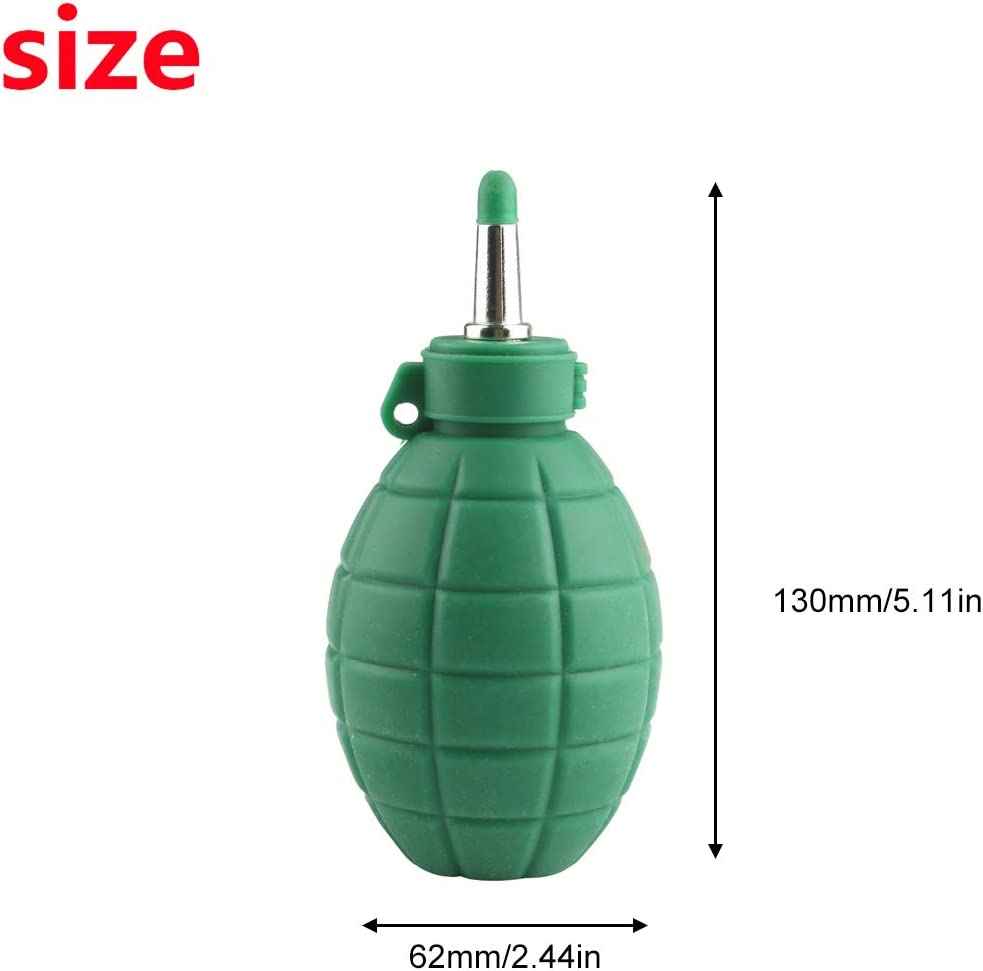 Larcele Bomba de soplador de aire para lente de c/ámara Limpiador de polvo de pantalla Herramienta de limpieza de fotograf/ía verde militar CCQ-01