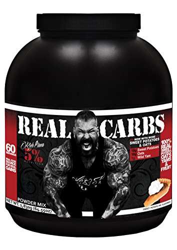 Nutrition Pie - Rich Piana 5% Nutrition Real Carbs (Sweet Potato Pie) 64.55oz (1,830 Grams) 60 Servings