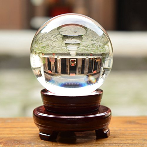 LONGWIN 120mm (4.7 inch) Large Crystal Divination Ball Photography Props Free Wooden Stand by LONGWIN (Image #1)