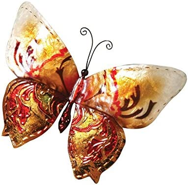 Eangee m713118 M412522 Table Butterfly Metal Art Piece Red