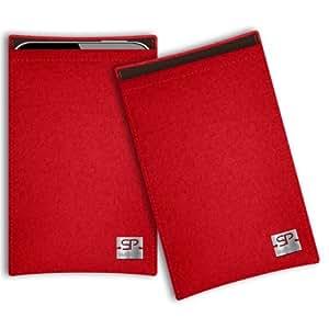 SIMON PIKE Cáscara Funda de móvil Boston 2 rojo Samsung Galaxy Young Duos Fieltro de lana