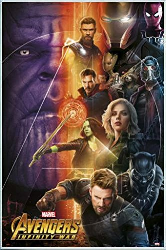 Amazon.com: The Avengers Poster and Frame (Plastic) - Infinity War ...