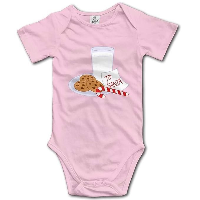 9c4ac683e Amazon.com: Baby Climbing Clothes Set Christmas Cookies Milk Bodysuits  Romper Short Sleeved Light Onesies: Clothing