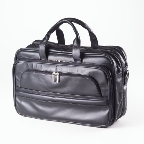 (Clava - Professional Leather Laptop Briefcase - Quinley Black)