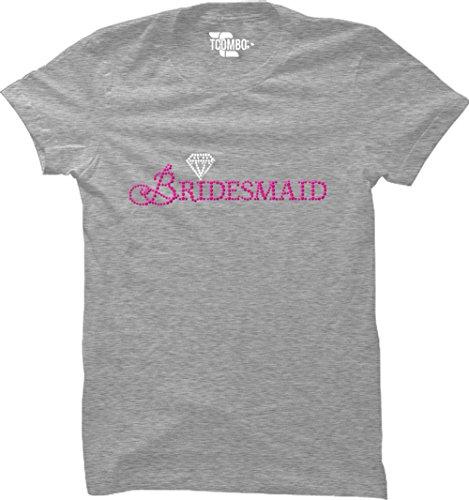 Bridesmaid Light T-shirt Womens (Bridesmaid Rhinestone Women's T-Shirt (Light Gray, XX-Large))