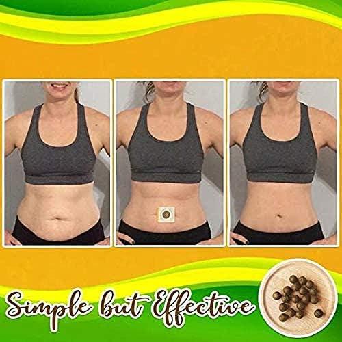 Herbal Slimming Tummy Pellet, Unisex Moxa Navel Paste, Natural Ingredients Firming Abdomen Legs Arms Herbal, Chinese Medicine Wormwood Sticker for Unisex 4