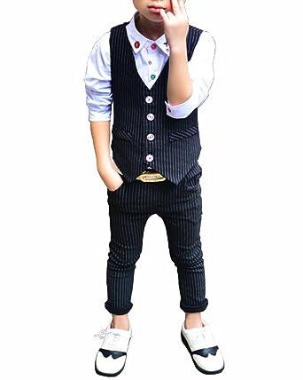 Quge Niños 2 Piezas Traje Conjunto Chaleco Niño Traje + Pantalones Cortos Trajes De para Bodas