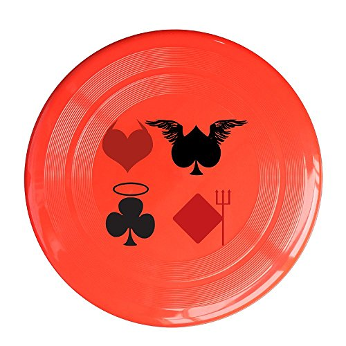 Sports Atlanta Falcons Tabletop (LINNA Unisex Angel Playing Cards Outdoor Game, Sport, Flying Discs,Game Room, Light Up Flying, Sport Disc ,Flyer Frisbee,Ultra Star Red One Size)