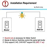 3 Way Smart Switch Dimmer by Martin Jerry | SmartLife App, Mains Dimming  (TRIAC) ONLY, compatible with Alexa as WiFi Light Switch Dimmer, 3-way,  Works