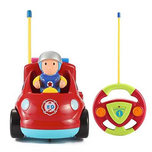 Price comparison product image Midea Tech Cartoon R / C Fire Truck Car Radio Control Toy for Toddlers