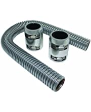 BLACKHORSE-RACING 48 Chrome Stainless Steel Radiator Hose /& 24 Heater Hose Kit Universal SS