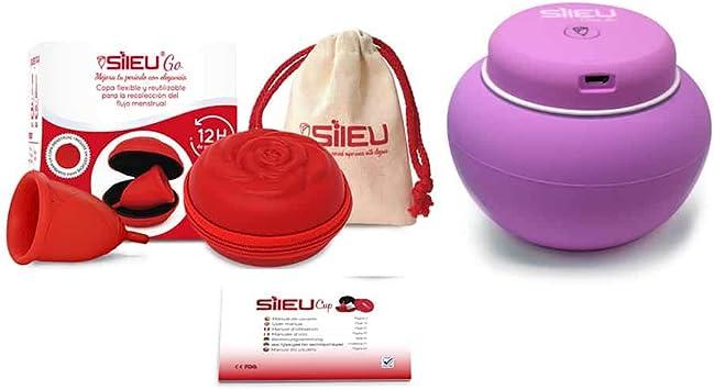Sileu Travel Plus - Copa menstrual Sileu Rose, Talla S, Rojo ...