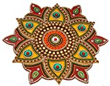 iKreation Acrylic Flower Shape Rangoli Pack (13 pcs) (Red N Yellow) (23 X 23 cm)