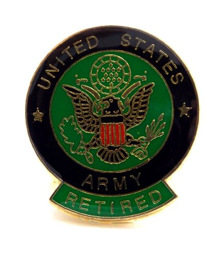 Us Army Retired Patch (Retired US Army Lapel Hat Pin Gift Military PPM028)