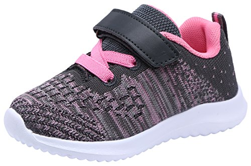 COODO Toddler/Little Kid Boys Girls Shoes Running Sports Sneakers (8 Toddler,Grey)