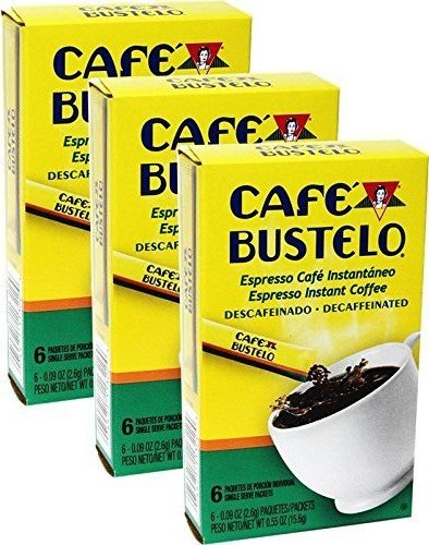 Bustelo Instant Decaff Coffee 6 Single Serve Packets.Pack of 3