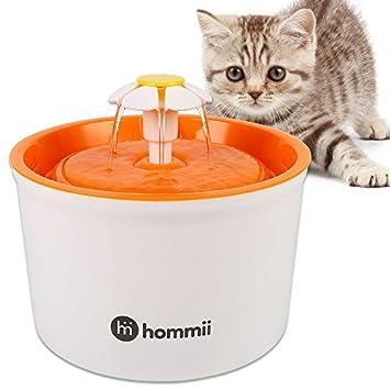 Hommii Mascotas Flores 901100 - Fuente para Gatos automático 901100 - Fuente con Filtro de carbón Pet Water Fountain Drinking Azul Verde Naranja: Amazon.es: ...