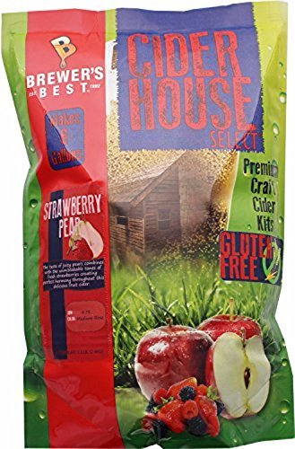 Home Brew Ohio HOZQ8-1396 Gluten Free Cider House Select Strawberry Pear Cider Kit, Multi (Cider Strawberry)
