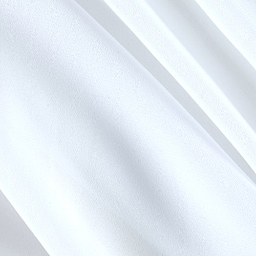 Ben Textiles Double Georgette Fabric, White, Fabric by the yard