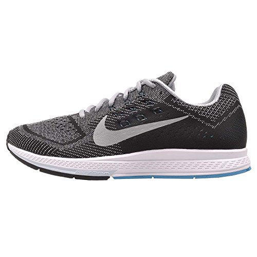 Nike Air Zoom Structure 18 - Zapatillas para hombre Wolf Grey / Metallic Silver - Blue Lagoon - Black