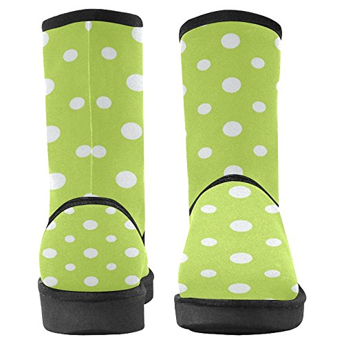 InterestPrint Womens Snow Boots Unique Designed Comfort Winter Boots Dotted Pastel Pattern Multi 1 TvWFgRLl2n
