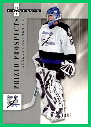 2005-06 Hot Prospects #170 Gerald Coleman RC SERIAL #561/1999 TAMPA BAY LIGHTNING - Bay Tampa Coleman