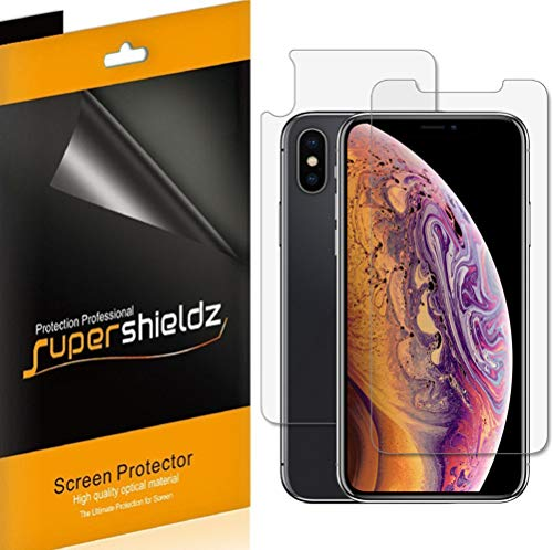 Supershieldz for Apple iPhone XS & iPhone X 5.8-inch [Front + Back] Full Body Anti-Glare & Anti-Fingerprint (Matte) Screen Protector Shield -Lifetime Replacements Warranty [3 Front and 3 Back]