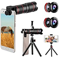 Phone Camera Lens Kit, CLEECLI 5 in 1 iPhone Zoom Lens...