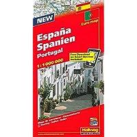 ESPAÑA PORTUGAL MAPA CARRETERAS HALLWAG (Carte stradali d'Europa)