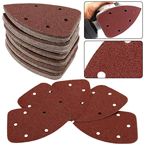 Sanding Discs 50 Pcs 5 Holes Sanding Discs 40 Grit Hook and Loop Sander Sandpaper Assortment for Random Orbital Sander
