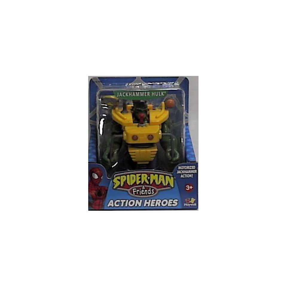 Spider man & Friends Jackhammer Hulk Action Figure with Motorized Jackhammer Action By Playwell