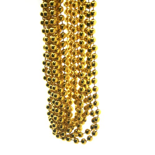 33 In 7mm GOLD BEADS - DZ -