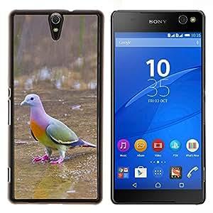 YiPhone /// Prima de resorte delgada de la cubierta del caso de Shell Armor - paloma pájaro tropical ornitología verde - Sony Xperia C5 Ultra