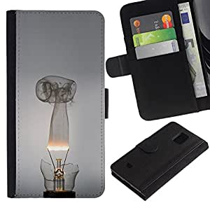 All Phone Most Case / Oferta Especial Cáscara Funda de cuero Monedero Cubierta de proteccion Caso / Wallet Case for Samsung Galaxy S5 Mini, SM-G800 // Broken Lightbulb