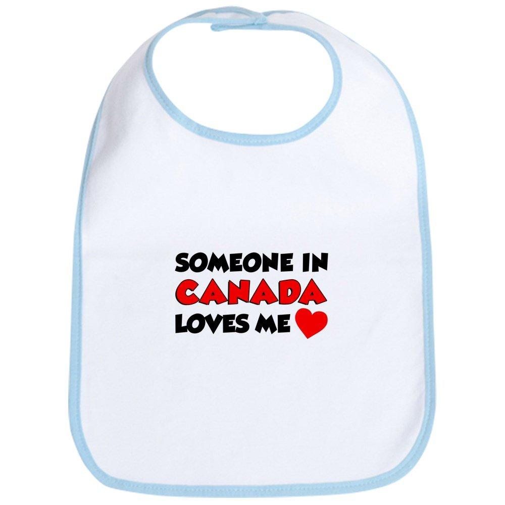 Toddler Bib CafePress Cute Cloth Baby Bib Someone In Canada Loves Me