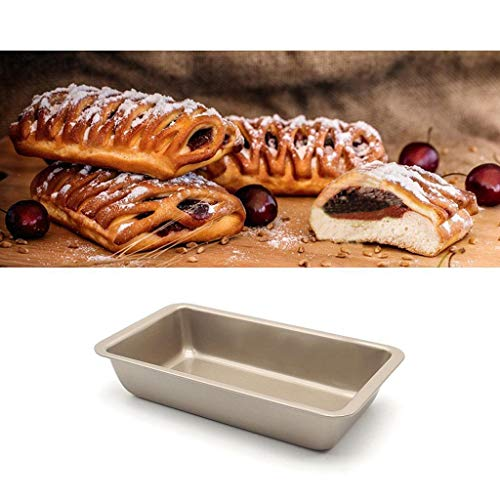 Rectangle Non-stick Toast Bread Cake Loaf Tin Steel Bakeware Pan 24x 13cm