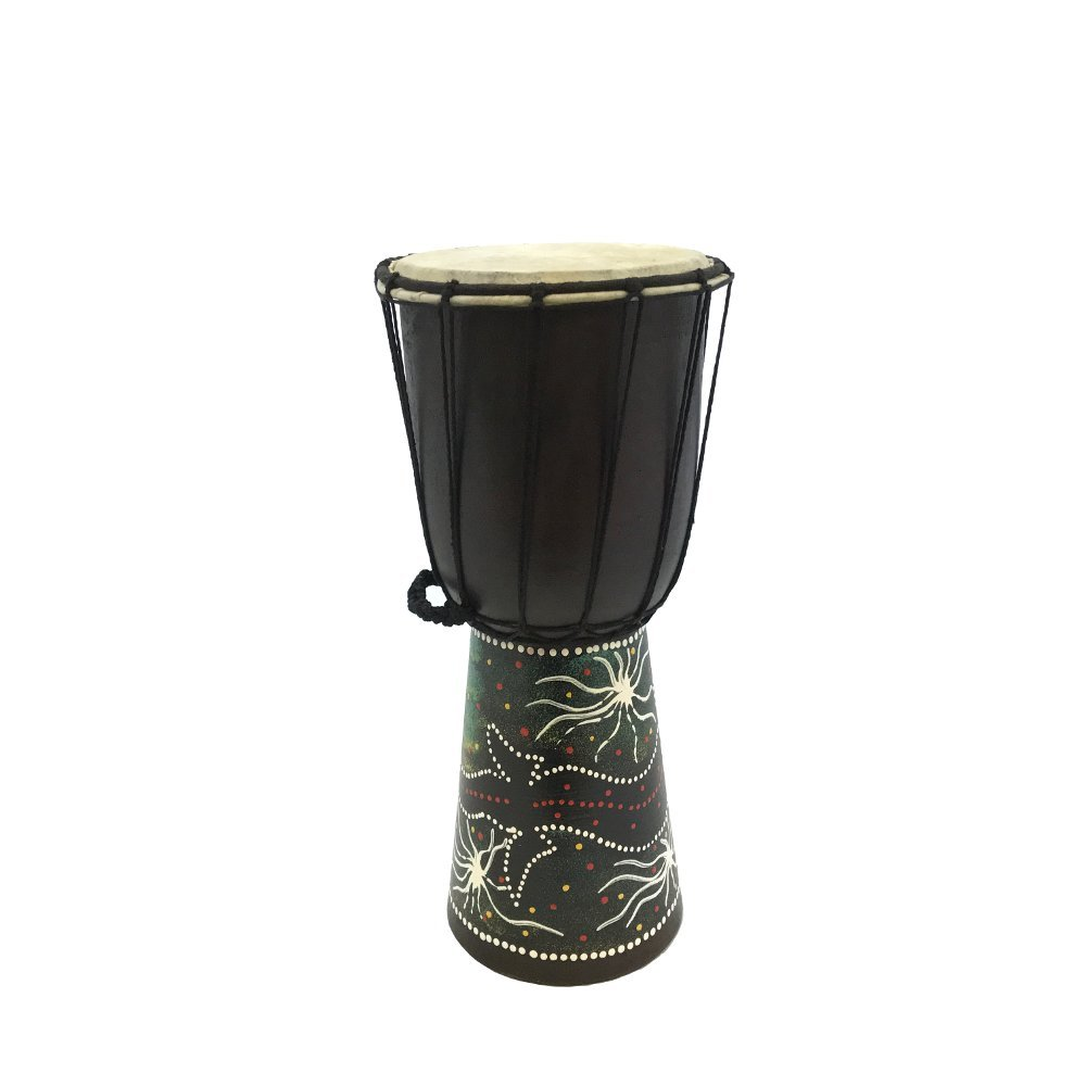 Groove Masters Percussion Painted Mahogany Djembe - 7 head x 16 tall from World Drum Source GMP DJ40SS