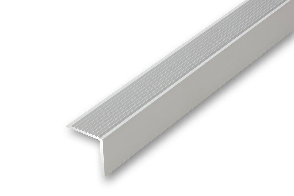 ungebohrt Treppenwinkel 30 x 30 x 1000 mm silberfarben ungebohrt Treppen-Kantenprofil Stufen-Profil Alu-Winkel-Profil , silber 30 x 30 x 1000