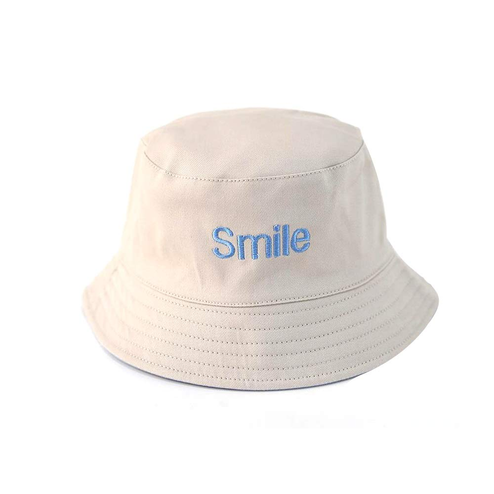 NingNing NN Children's Visor - Stylish, Foldable, Double Visor, Summer boy and Girl Fisherman hat, Available in a Variety of Colors Children's Outdoor Equipment (Color : Beige+Blue)
