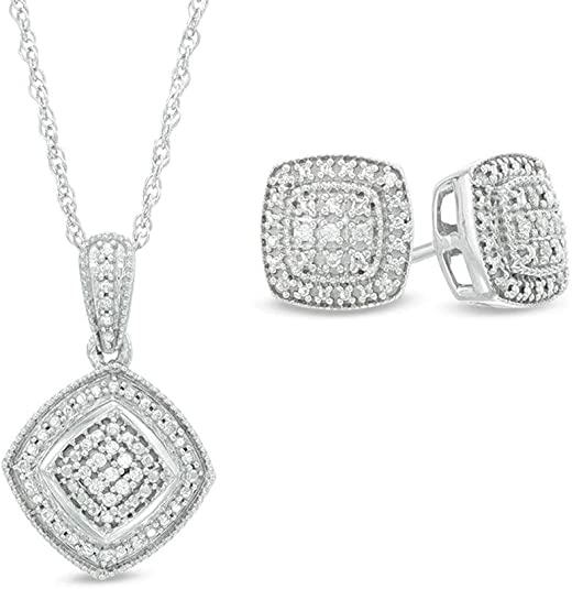 HN Jewels 1.90 Ct Emerald /& D//VVS1 Diamond Double Halo Pendant with 18 Chain .925 Silver