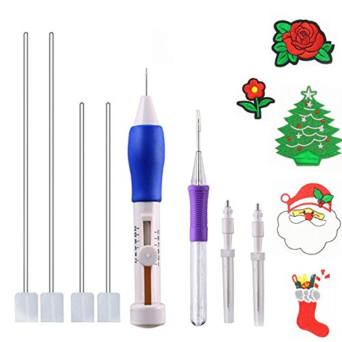 Review Jelacy Embroidery Pen,Punch Needle Magic Embroidery Pen Set Punch Embroidery Needle for Threa...