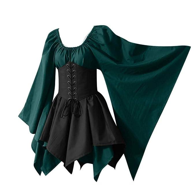 Amazon.com: LOKODO - Disfraz de bruja de manga larga, estilo ...