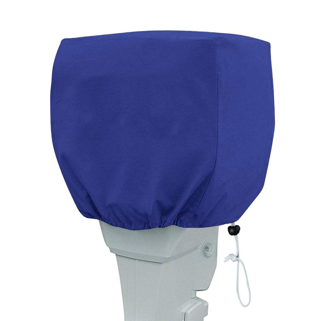 Cheng Yi Outboard Motor Hood Cover,Heavy Duty Boat Engines Cover Dust-Proof and UV Resistant Thick Waterproof Fabric Blue CYFC596