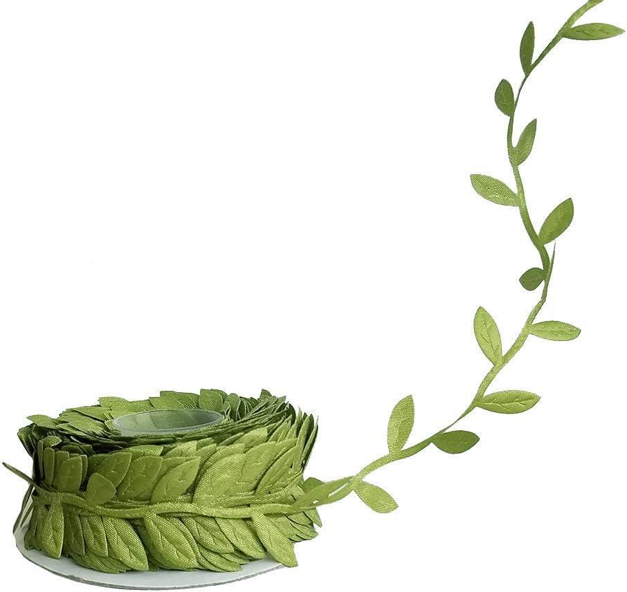 Leaf Ribbon 20 Yard/60 Feet Roll1 inch Width/Green