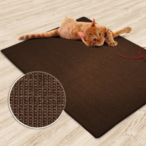 Sisal Peace Rug (casa pura Sisal Cat Mat, Dark Brown (20