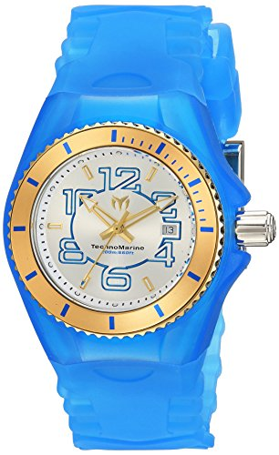 Technomarine Women's 'Cruise' Swiss Quartz Stainless Steel and Silicone Casual Watch, Color:Blue (Model: TM-115130)