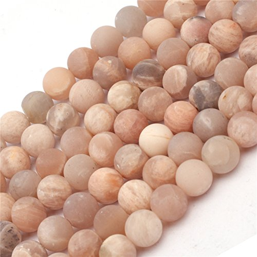 6mm Sunstone Beads for Jewelry Making Natural Semi Precious Gemstone Round Matte Frosted Mixed Color Strand 15