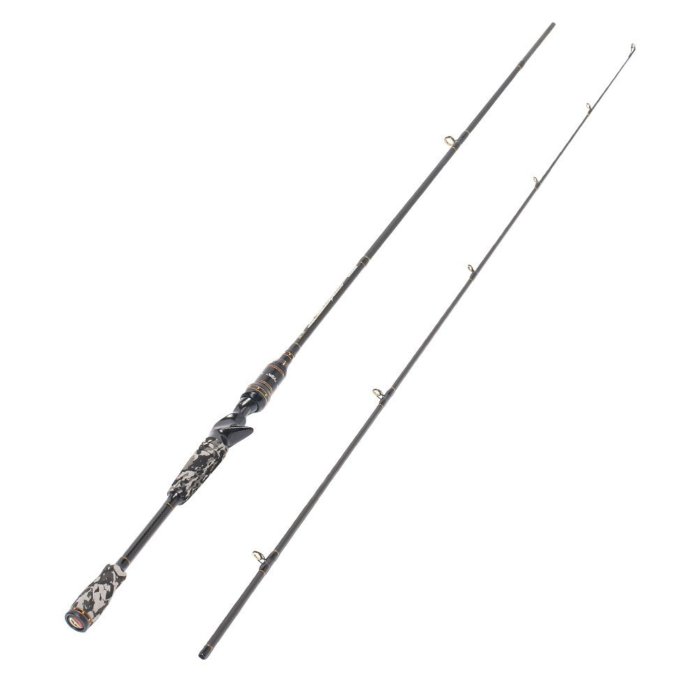 Entsport 2-Piece Casting Rod Graphite Portable Baitcast Rod