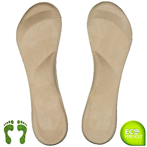 Arch Support Shoe Inserts for Women Flat Feet, Plantar Fasciitis, Ball of Foot Pain Relieve for High Heels or Flat Shoes Suede ( Size 8 or Less ()